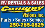 Conway Visions Inc. - RV Rentals and Sales - 250.785.6829