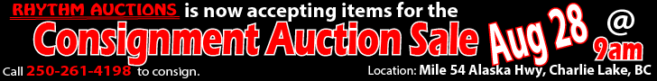 Consignment Auction Mile 54, Charlie Lake, BC - Aug 28, 2021